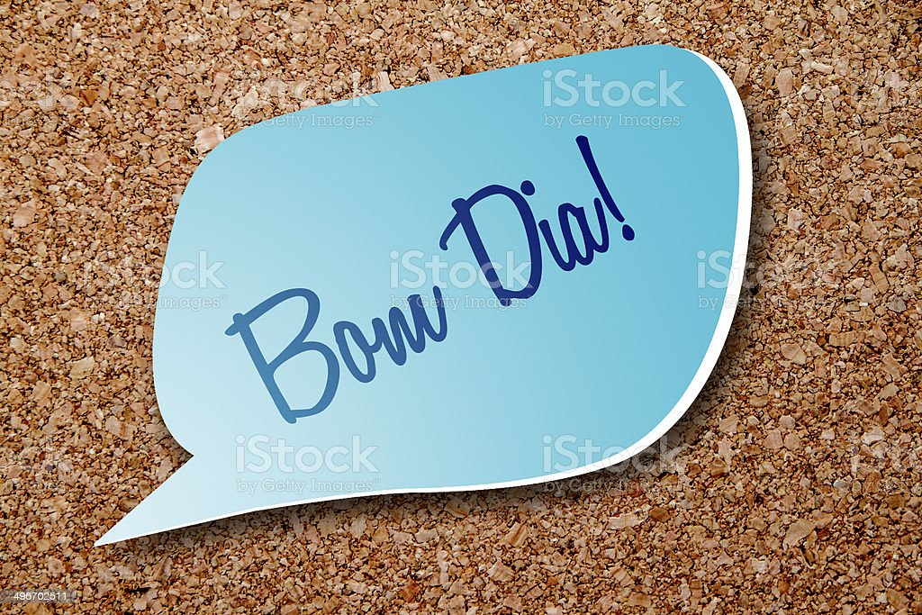 Bom Dia Say Good Morning In Portuguese Stock Photo More Pictures