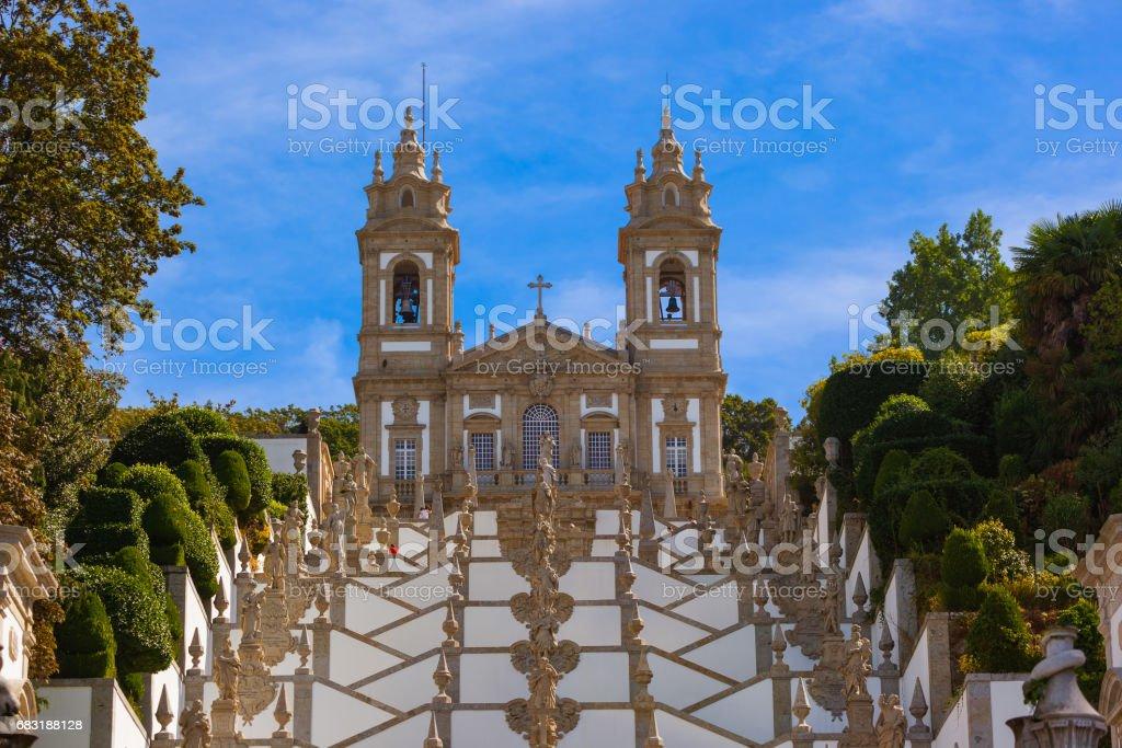 Bom Jesus church in Braga - Portugal royalty-free 스톡 사진