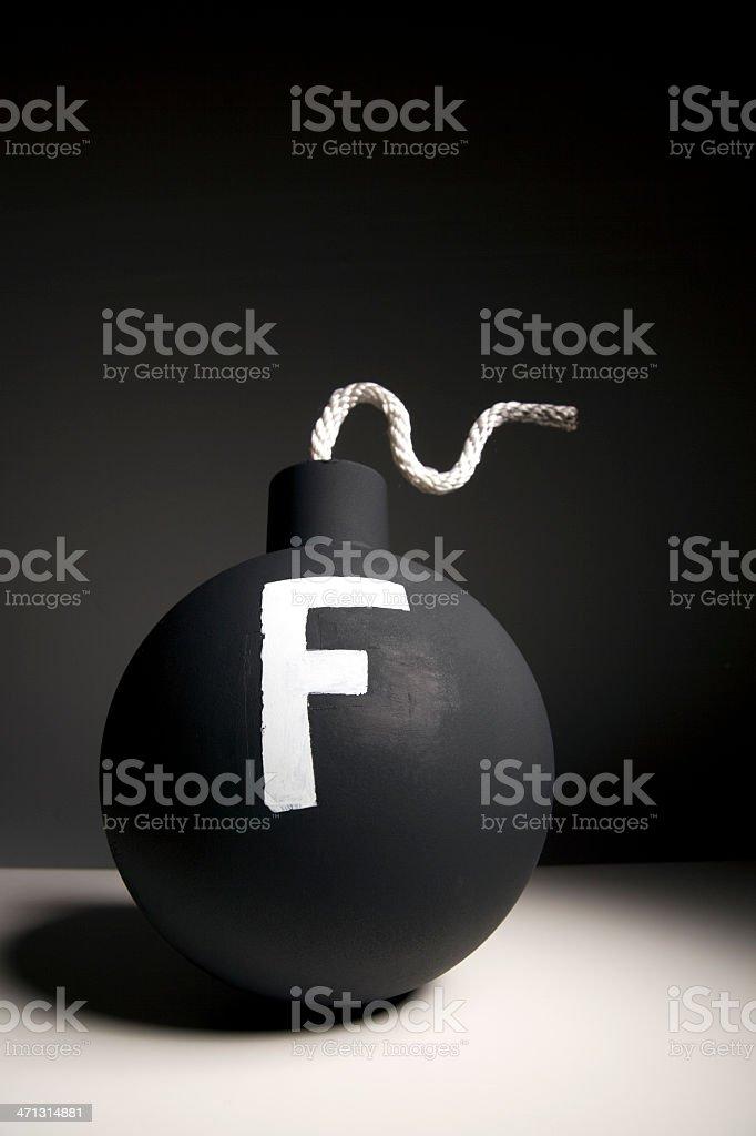 F Bomb stock photo