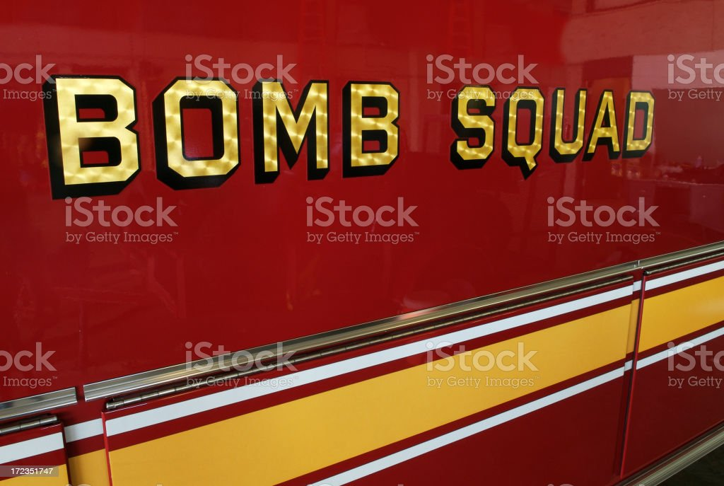 Bomb Squad royalty-free stock photo