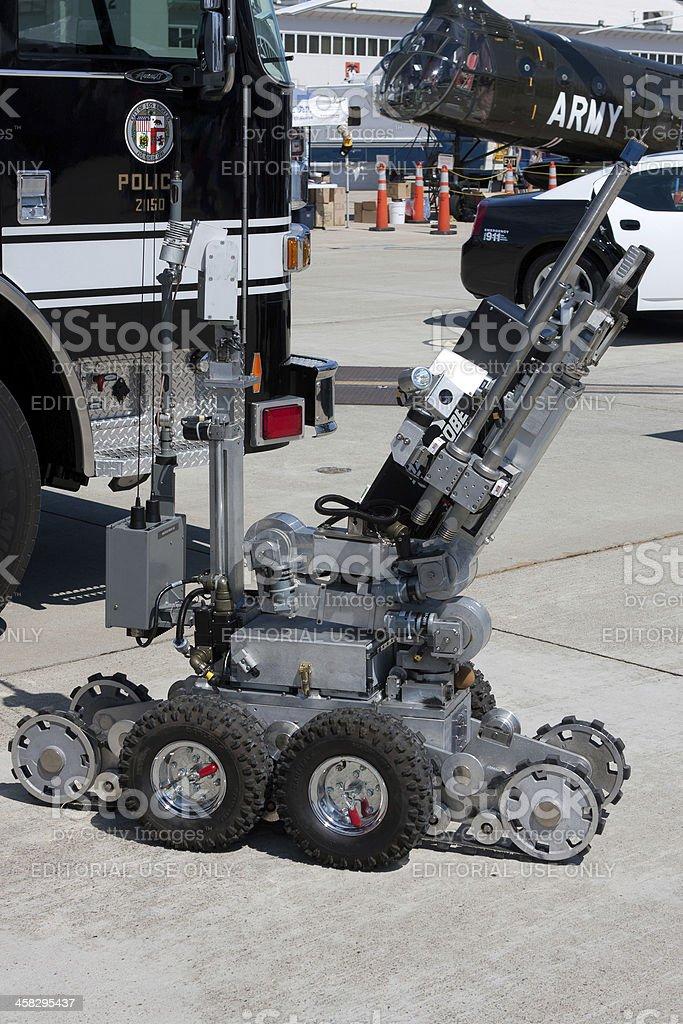 LAPD Bomb Squad Robot stock photo