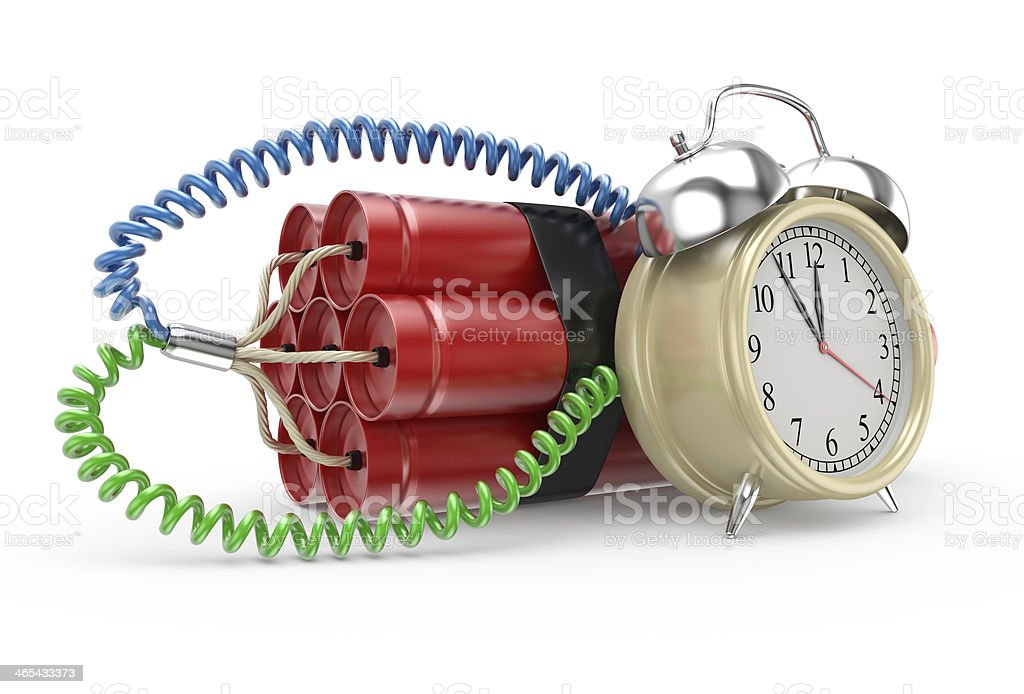 Bomb with clock timer royalty-free stock photo