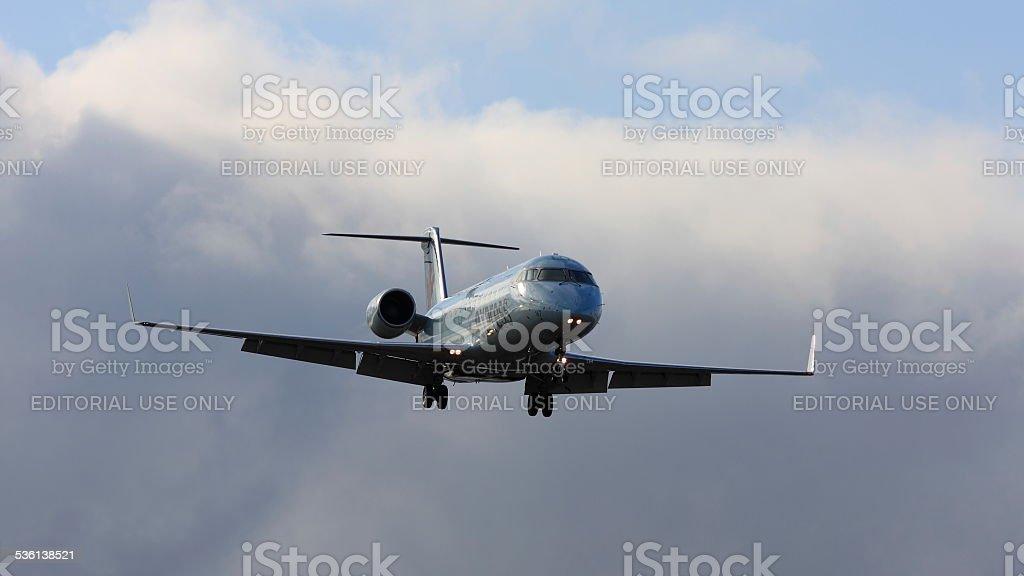 Bombardier CL - 600 C-GGJA Air Canada en approche finale à YOW - Photo
