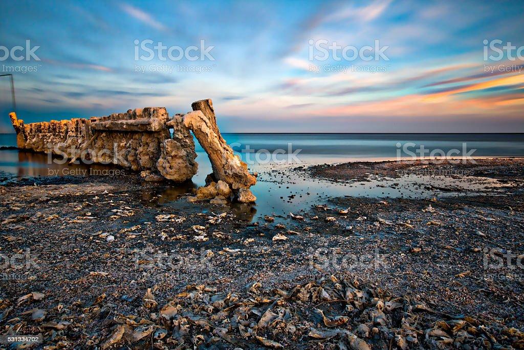 Bombay Beach Sunset stock photo