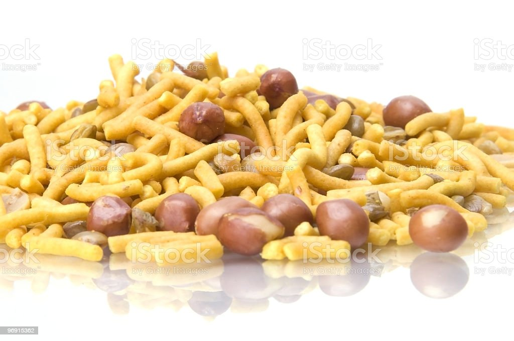 Bombay Mix dried nuts royalty-free stock photo