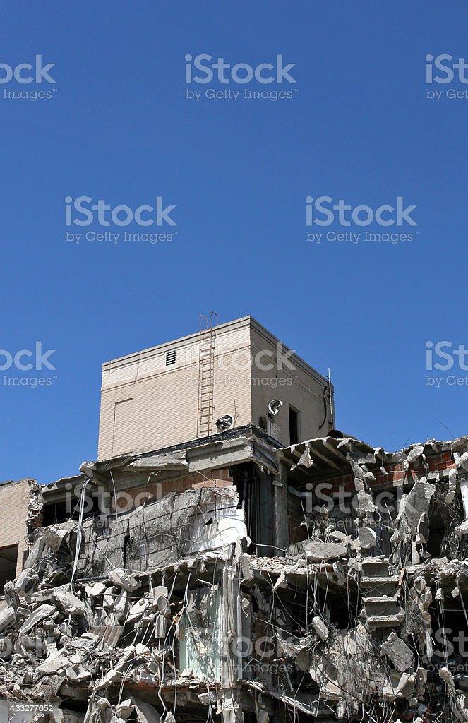 Bombed Building royalty-free stock photo