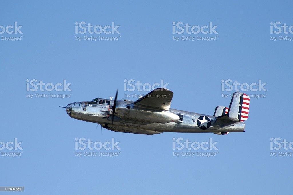 WWII bomber airplane B25 Mitchell stock photo