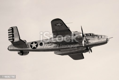 WWII bomber. B-25 Mitchell.