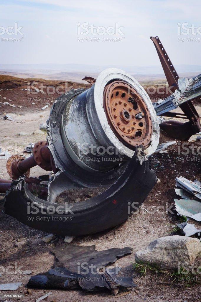 Bomber Crash Site stock photo