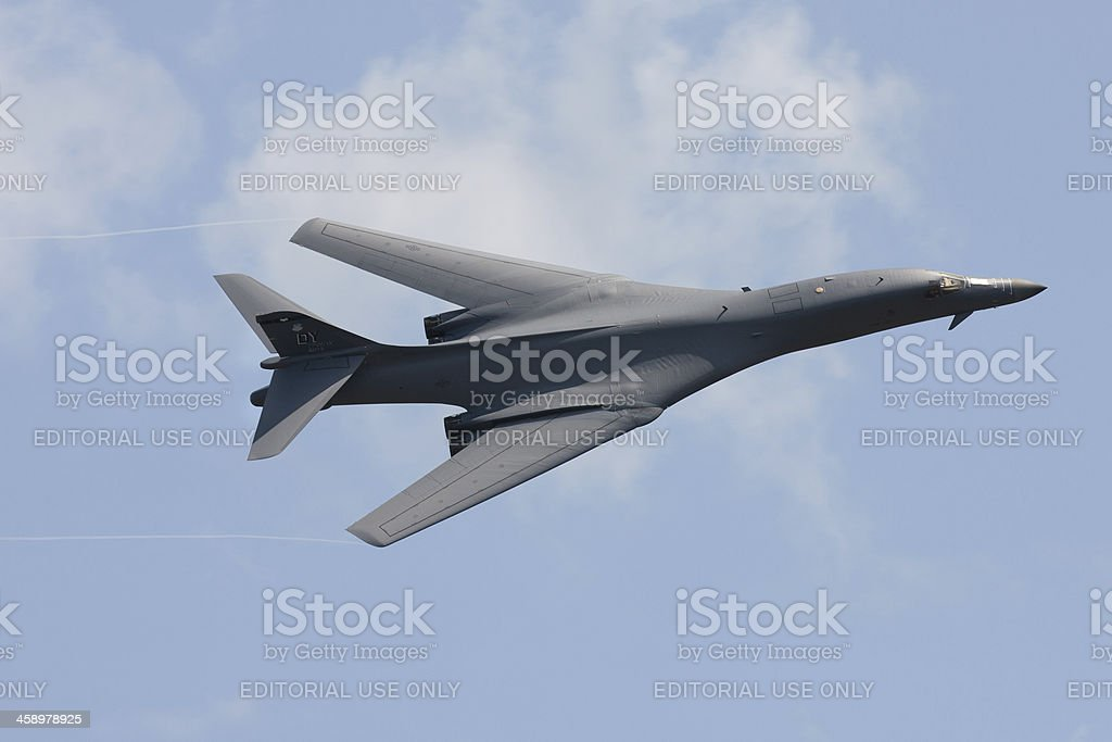 B-1B Bomber In Flight stock photo