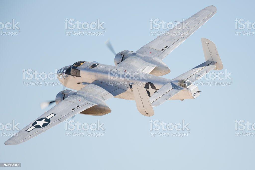 WWII bomber (B-25 Mitchell) - foto stock