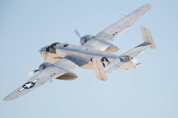 WWII bomber (B-25 Mitchell) WWII bomber (B-25 Mitchell) bomber plane stock pictures, royalty-free photos & images