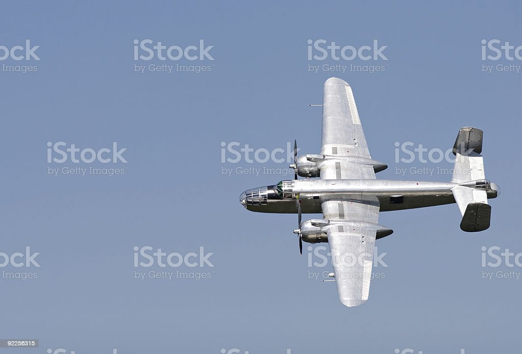 B-25  Bomber royalty-free stock photo