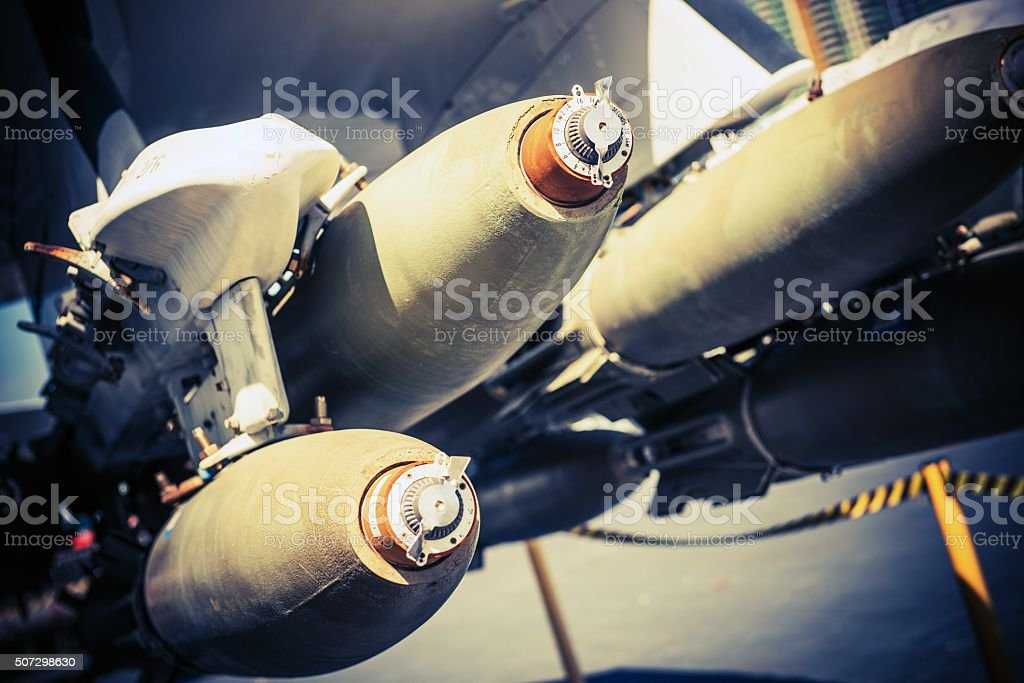 Bombing Mission stock photo