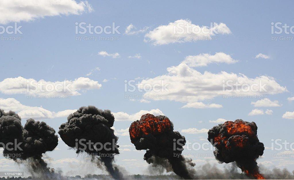 bombing royalty-free stock photo