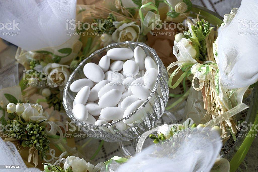Bomboniere e confetti stock photo