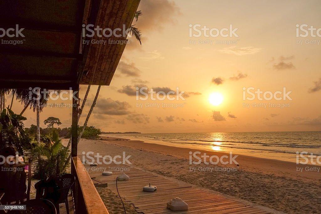 Bome beach sunset stock photo
