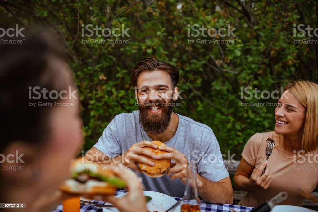 Bon appetite ! stock photo
