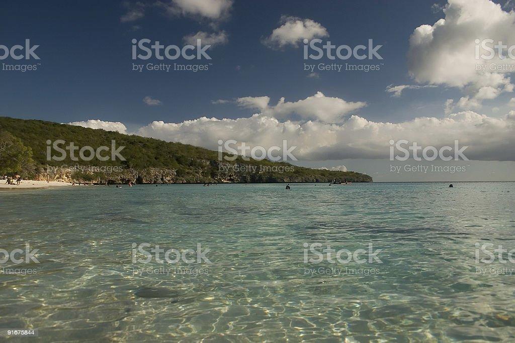 Bon Bini Beach royalty-free stock photo
