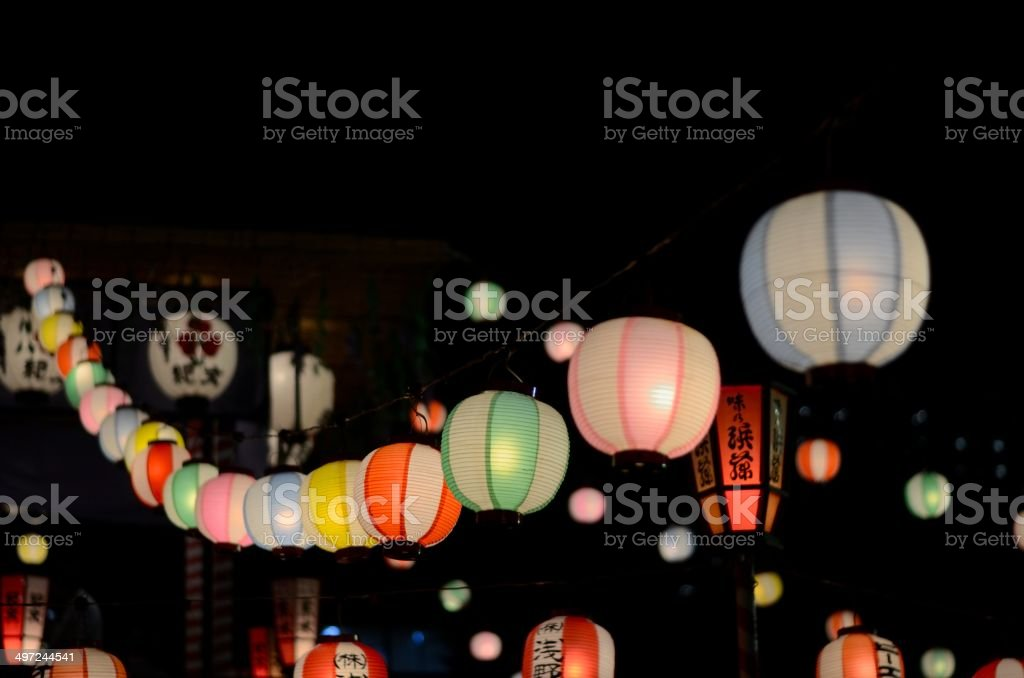 Bon Dance Lanterns stock photo
