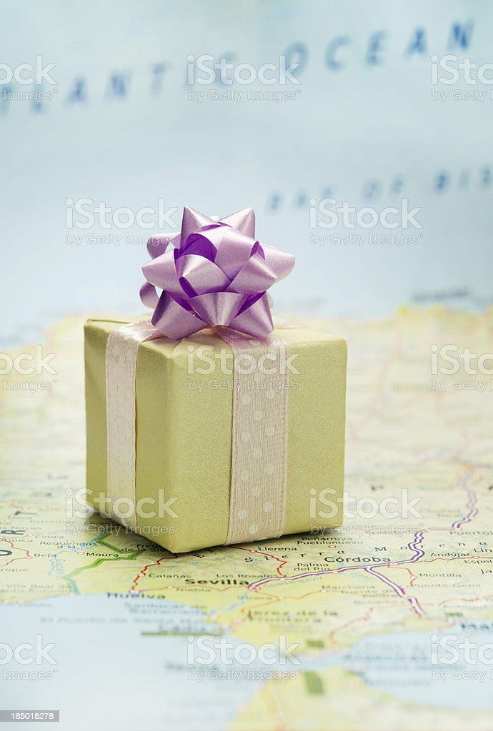 Bon voyage gift stock photo