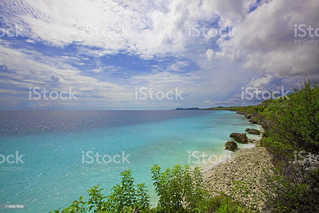 Bonaire coastline stock photo