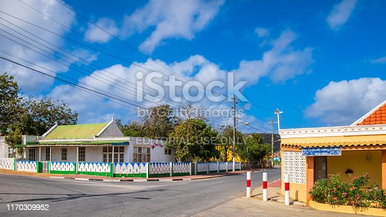 Streets of Rincon, the oldest village on Bonaire, in the Caribbean Netherlands.