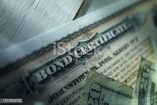 istock bond certificate 1217010722
