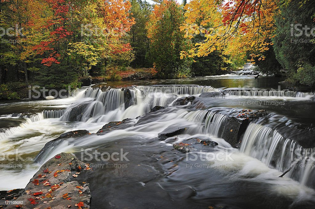 Bond Falls , Paulding Michigan USA stock photo