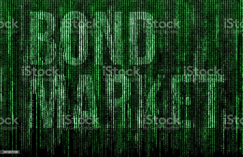 Bond Market digital matrix illustration – Foto