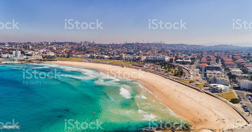 D Bondi beach arc city day stock photo