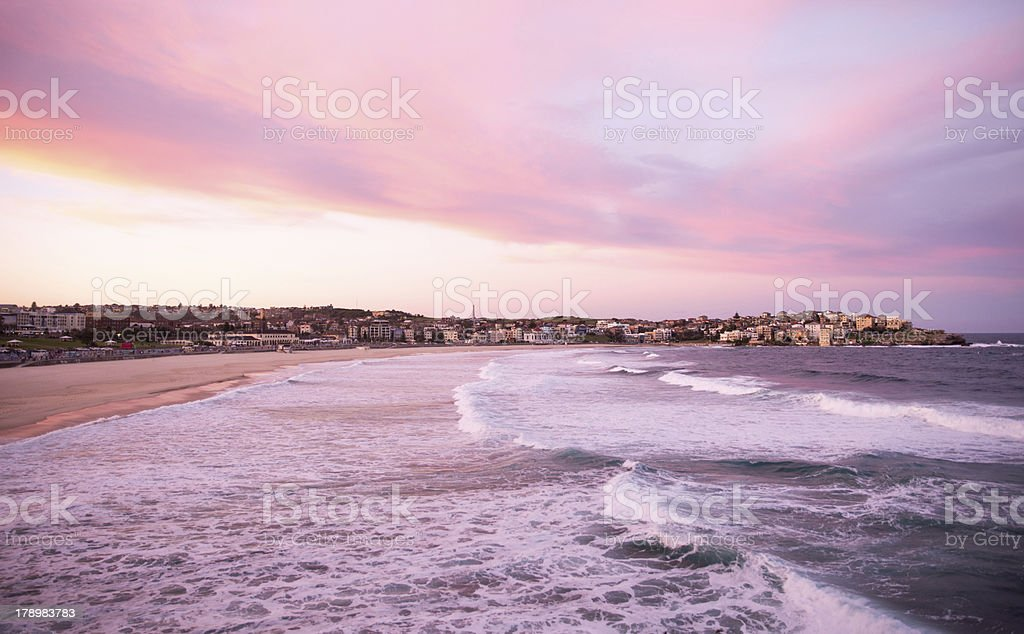 Bondi Beach at dusk stock photo