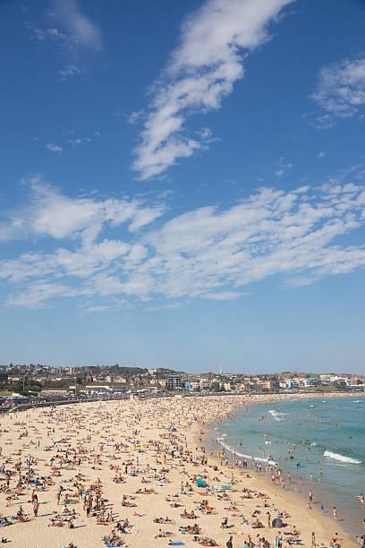 Royalty Free Crowded Beach In Hot Summer Day Bondi Beach