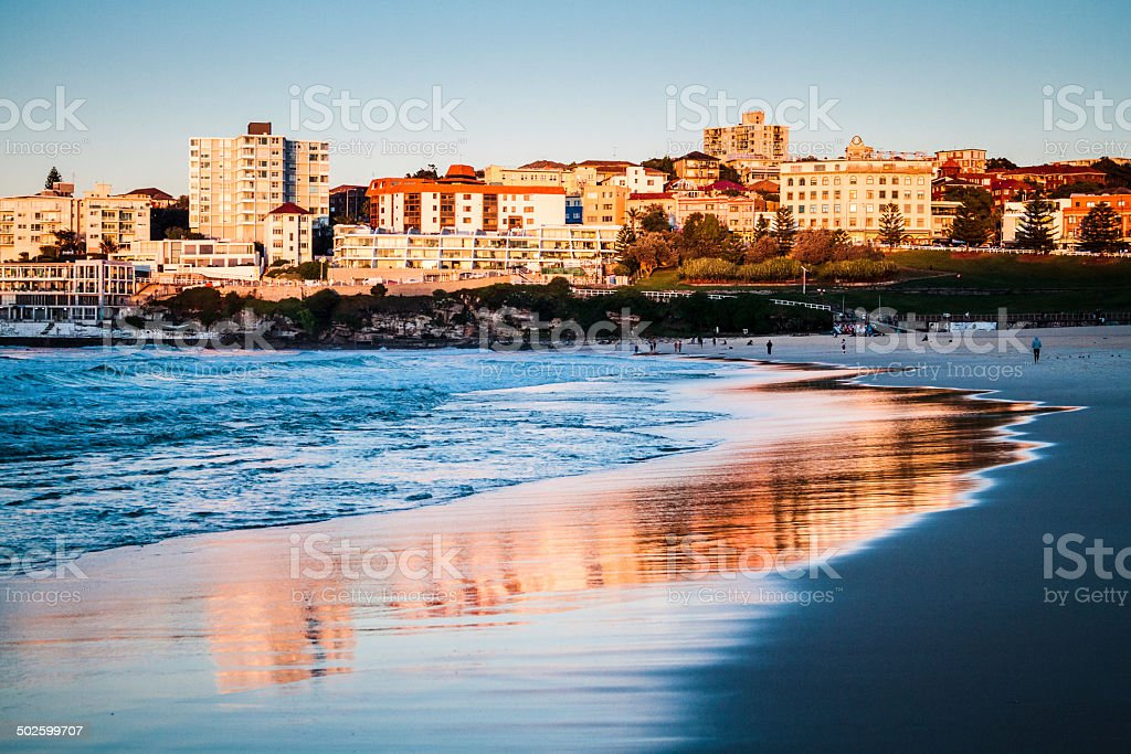 Bondi Beach - Golden River - Sydney. stock photo