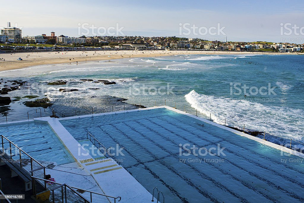 Bondi Beach & Icebergs stock photo