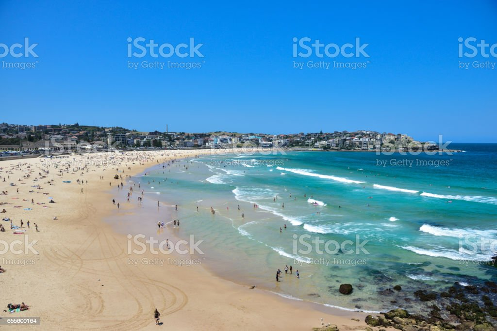 Bondi beach in summer stock photo