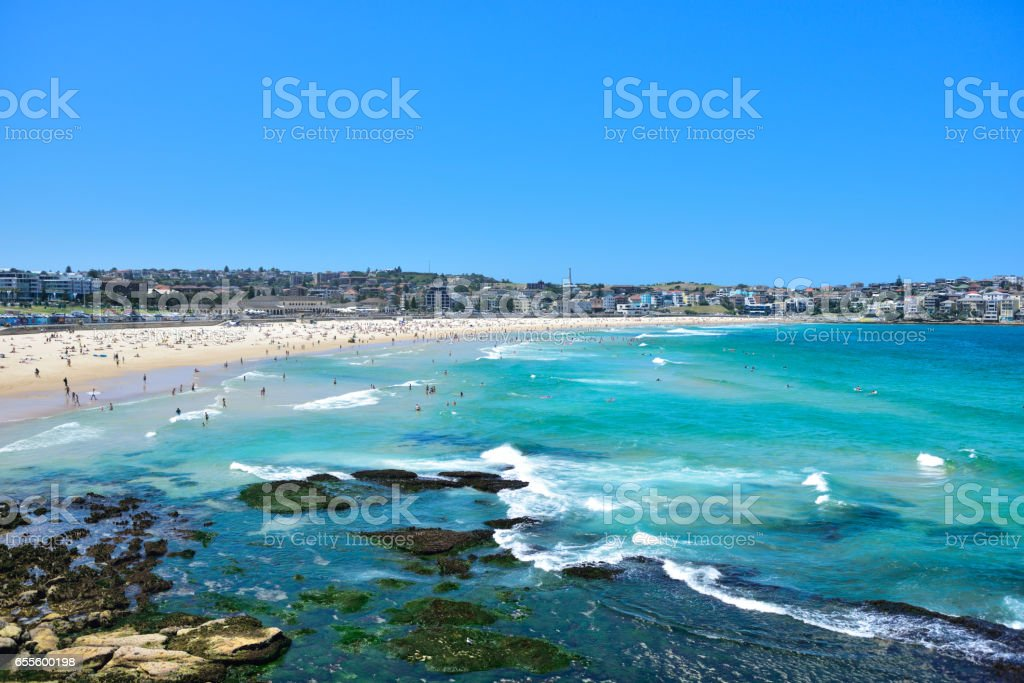 Bondi beach in summer stock photo