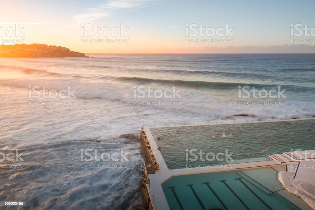 Bondi Beach Morning time stock photo