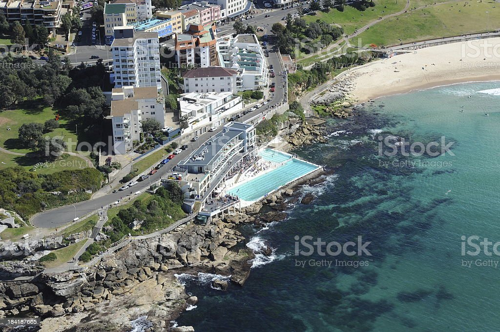 Bondi Icebergs Club aerial stock photo
