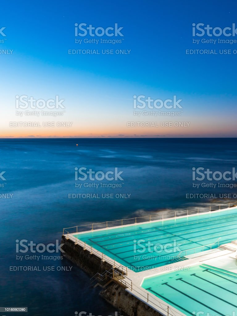 Bondi Icebergs Dawn stock photo