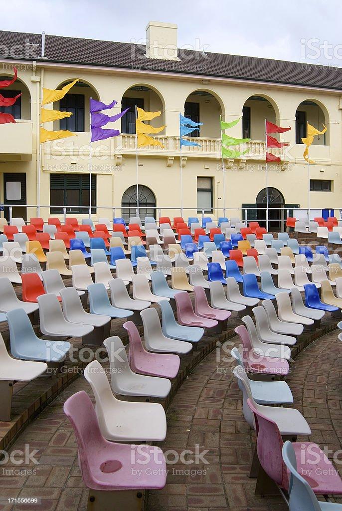 Bondi Pavilion seating stock photo