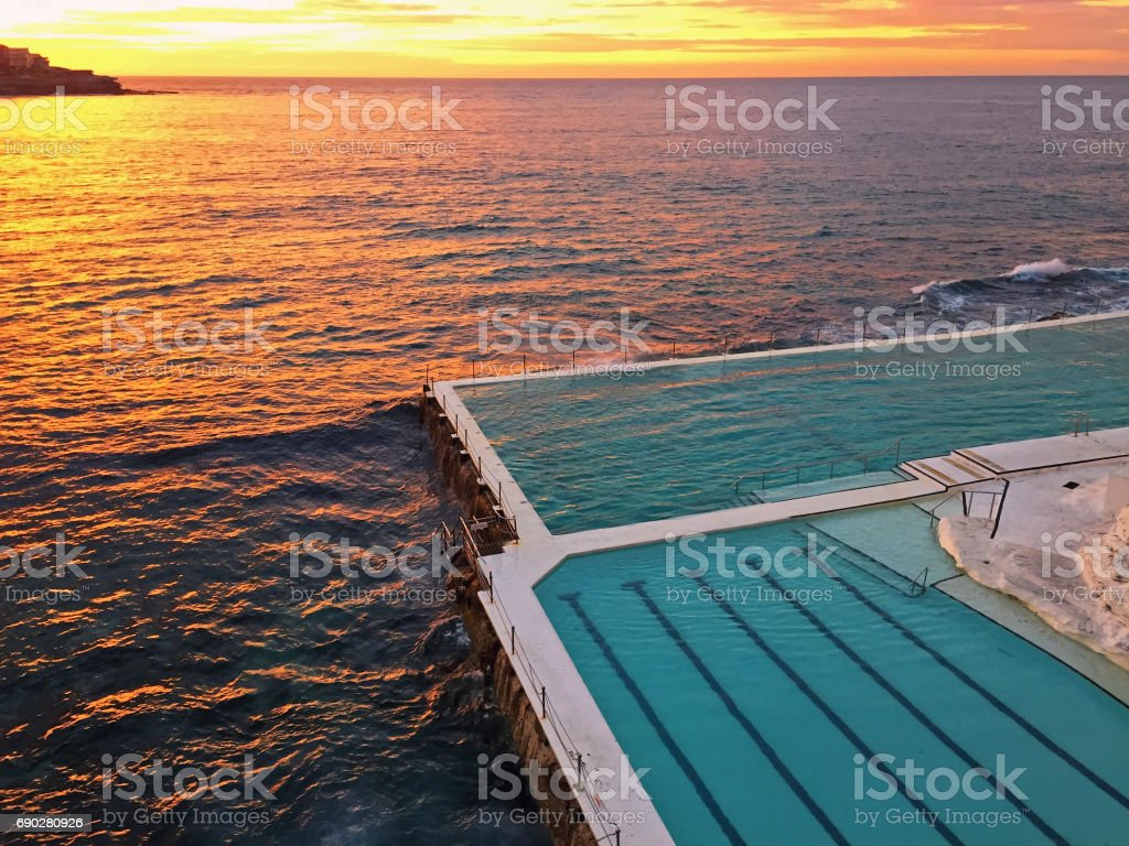Bondi Pool Sunrise stock photo