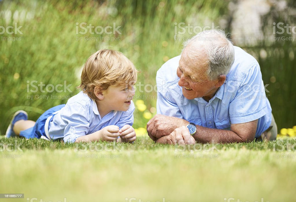 Bonding over a relaxed chat royalty-free stock photo