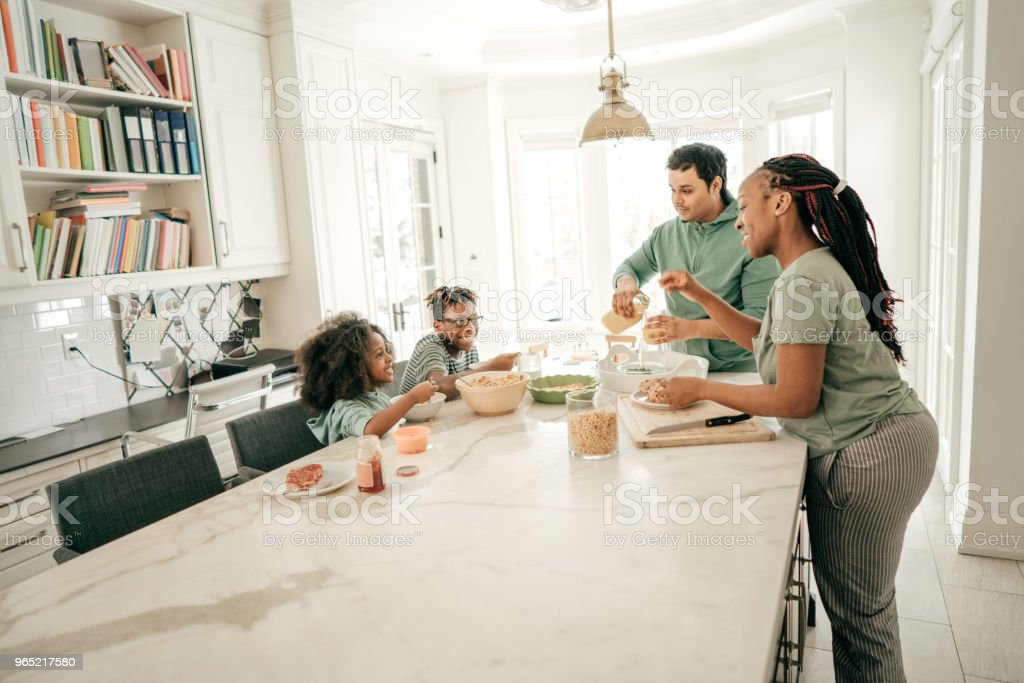 Bonding over breakfast royalty-free stock photo