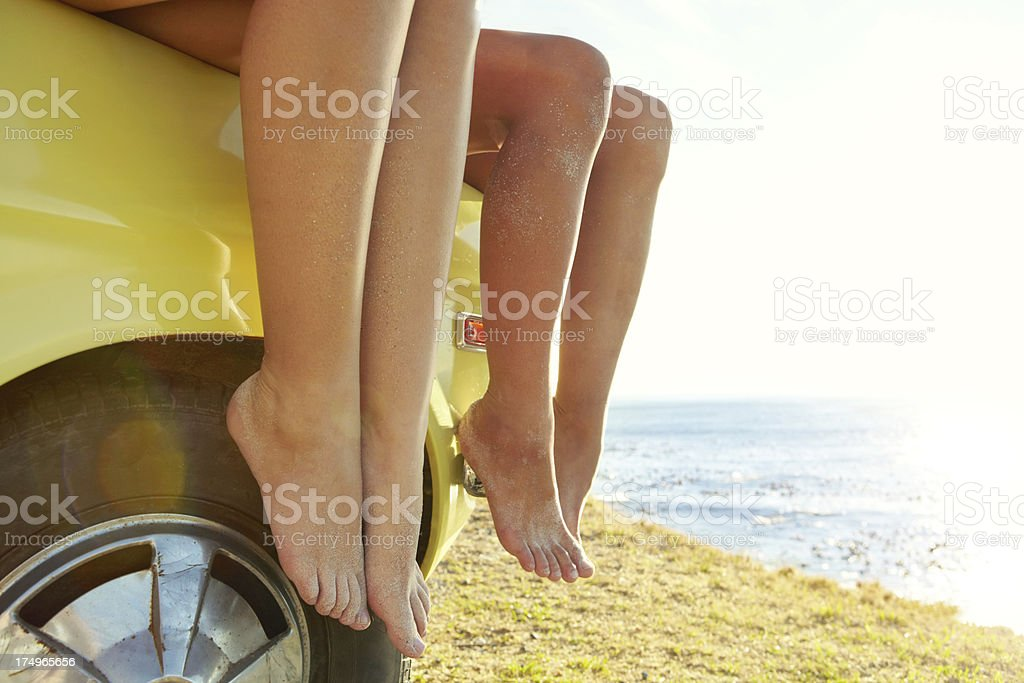 Bonding over the view royalty-free stock photo