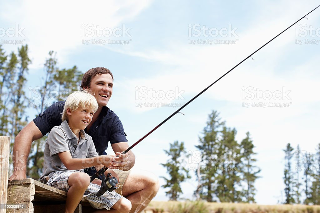 Bonding with my boy royalty-free stock photo