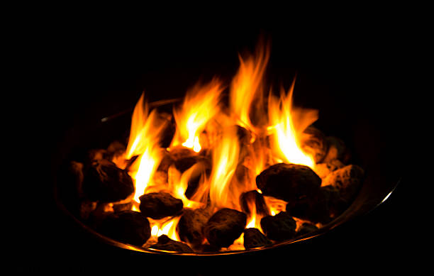 Bone fire stock photo