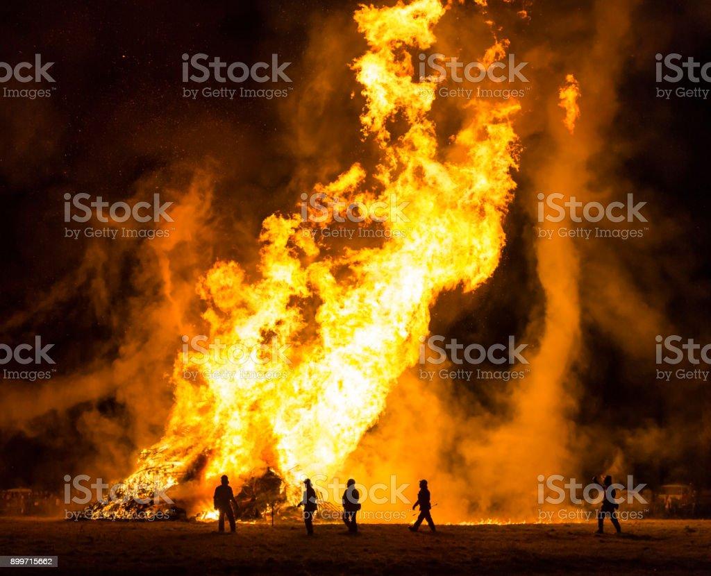 Bone Fire With Fire Nado stock photo