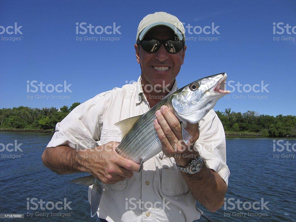 Bone fish fishing stock photo