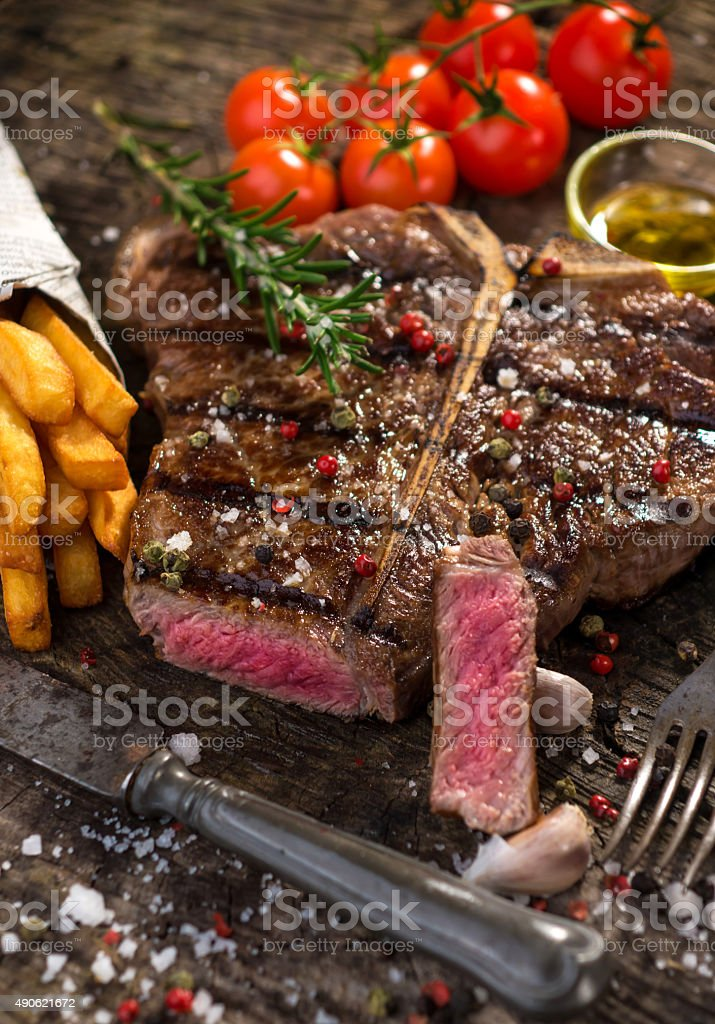 T Bone Steak stock photo